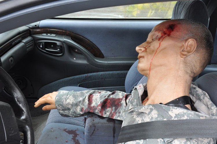 Alan Training Dummy with Gunshot Wound